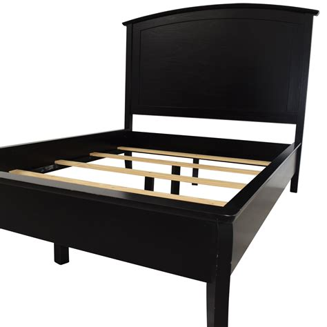 black wood bed frame 68 off pottery barn pottery barn black wood full bed