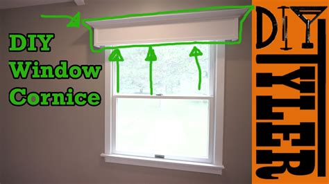 cornice window simple diy window cornice