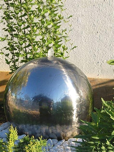 water features aterno6 600mm diameter sphere by aqua moda steel water