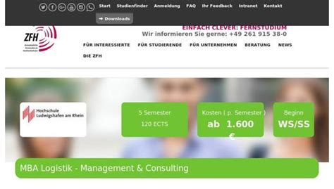 Management Consultant Without Mba by Fernstudium Logistik Management Consulting Mba