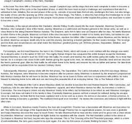 Heroic Essay by Gladiator Journey At Essaypedia
