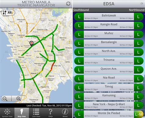 maps traffic colors mmda and waze apps your traffic companions