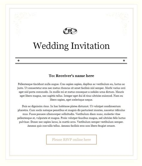 Content For Wedding Invitation Email