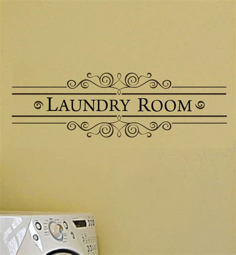 laundry room sticker wall laundry room vinyl wall decal vintage style wall decal wall