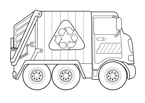 truck coloring page for preschoolers garbage truck worksheets coloring pages 2 171 preschool