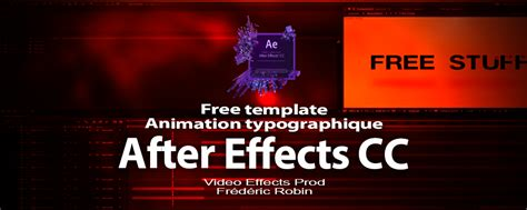 after effects cc free template animation typographique