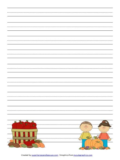 free printable writing paper dltk fall writing paper with lines www gabut pl