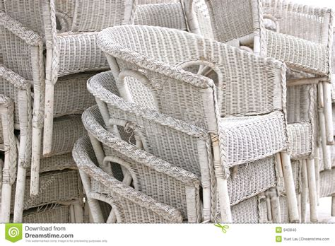Contemporary Dining Room Chair by White Rattan Chairs Stock Photo Image 940840