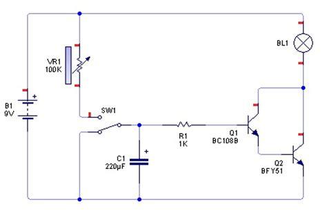 rangkaian transistor npn sebagai saklar rangkaian timer dengan transistor belajar teknik elektro robotika pemrograman teknologi dan
