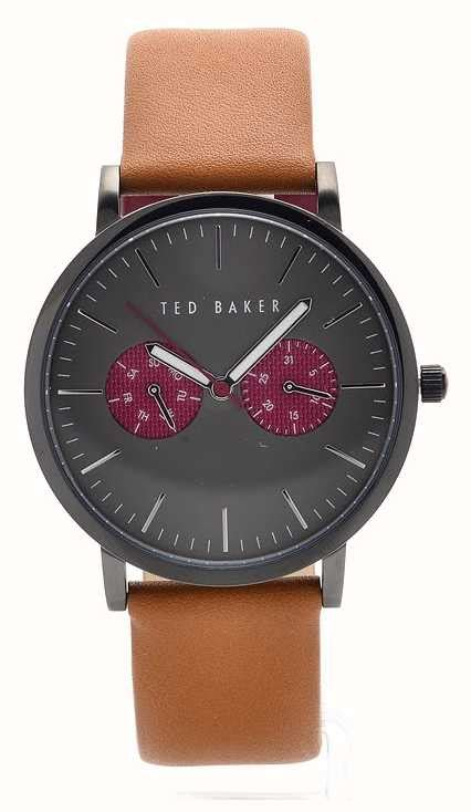 Ted Baker Te10024783 ted baker mens brown leather grey te10024783 class watches