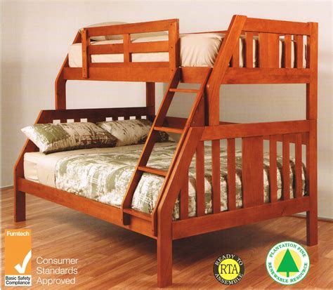 Single Bed Bunk Bed Troy Single Timber Bunk Bed