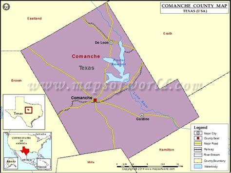 comanche county texas map comanche county map texas
