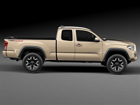 toyota models and toyota tacoma trd off road 2016 3d model max obj 3ds
