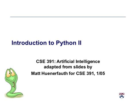 introduction to artificial intelligence undergraduate topics in computer science books introduction to python part two