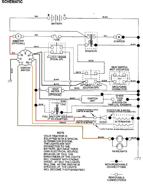craftsman mower electrical diagram wiring inside