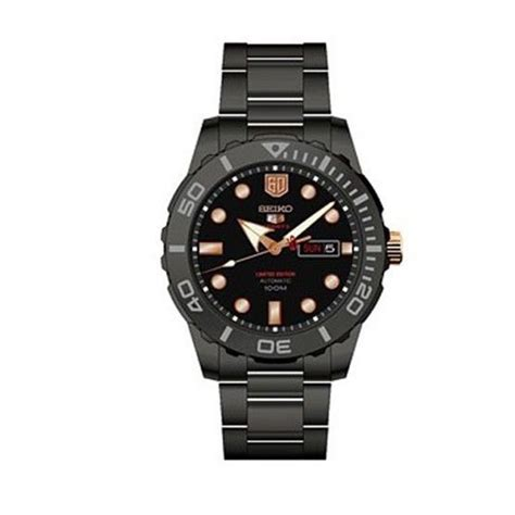 seiko 5 srpa33k1 automatic black stainless steel
