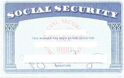 Social Security Number Template social security card template wordscrawl