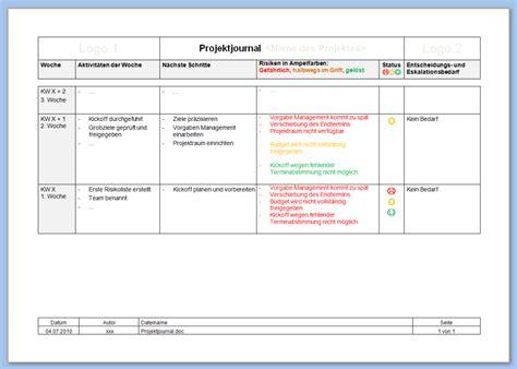 Word Vorlage Journal das schweizer taschenmesser des projekt berichtswesen