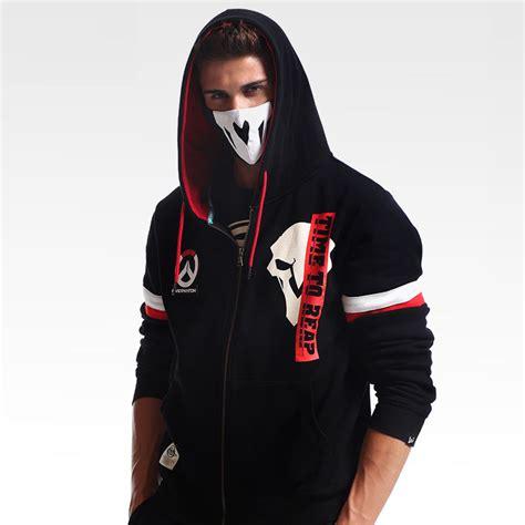 Jaket Overwatch Black T1310 4 blizzard overwatch reaper hoodie ow