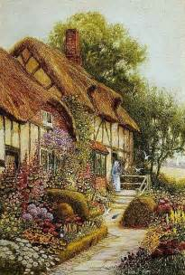 cottage garden paintings painting of cozy cottage beautiful cozy country