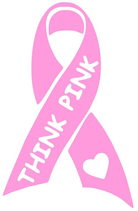 Dashing Think Pink For Breast Cancer Awareness by Breast Cancer Awareness Think Pink Ribbon Vinyl Decal T 60