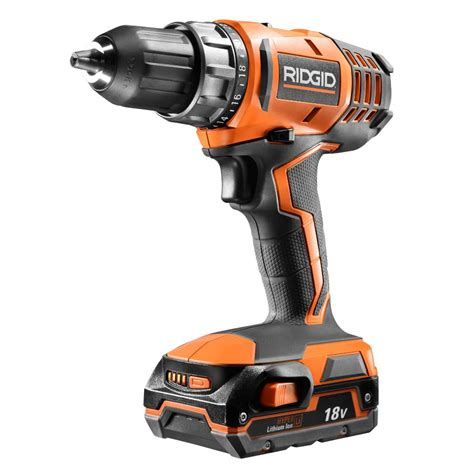 ridgid 18 volt cordless lithium ion 1 2 in compact drill