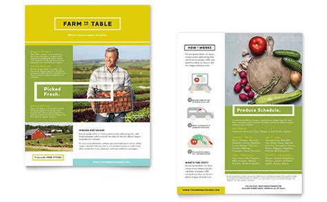 Organic Food Datasheet Template Design Product Sell Sheet Template Free