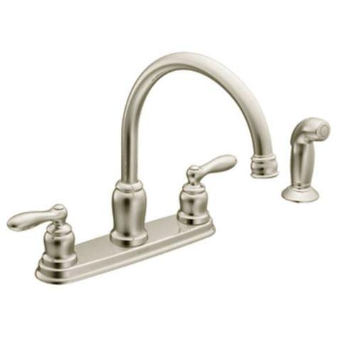 moen caldwell bathroom faucet moen 87888sl caldwell two handle kitchen faucet classic
