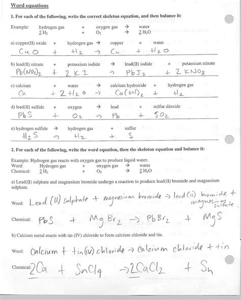 naming and balancing chemical equations worksheet fioriowiki snc2d science 10 academic