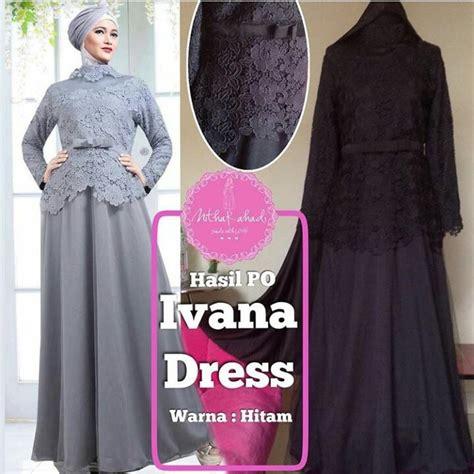 Baju Muslim Brokat Prada Baju Pesta Seragam Keluarga Ivana Tulle Bisa Dicicil