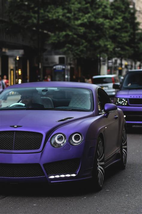 purple bentley matte purple bentley continental range rover cars
