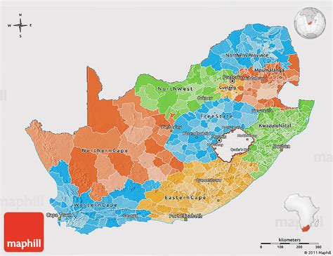 d maps africa political 3d map of south africa cropped outside