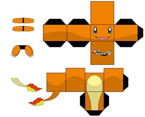 Papercraft Charmander - charmander by jetpaper on deviantart