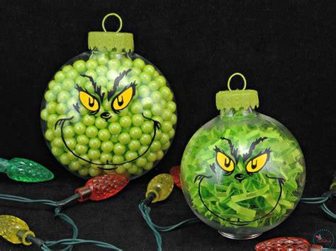 diy grinch christmas ornaments  easy tutorial