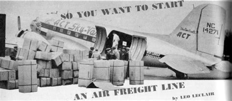 so you want to start an air freight line november 1946 air trails airplanes and rockets