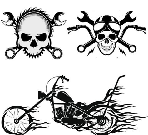 cool motorcycle themed tattoo designs