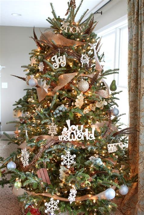 burlap christmas ideas top 5 christmas tree theme photos
