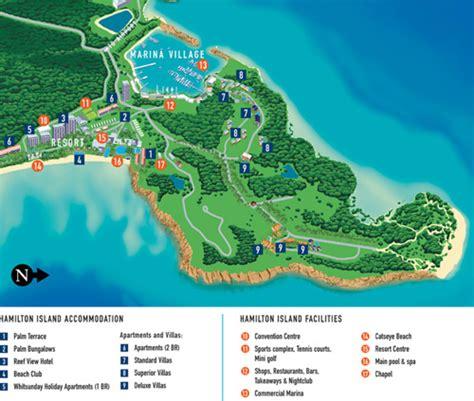 island resort map hamilton island map