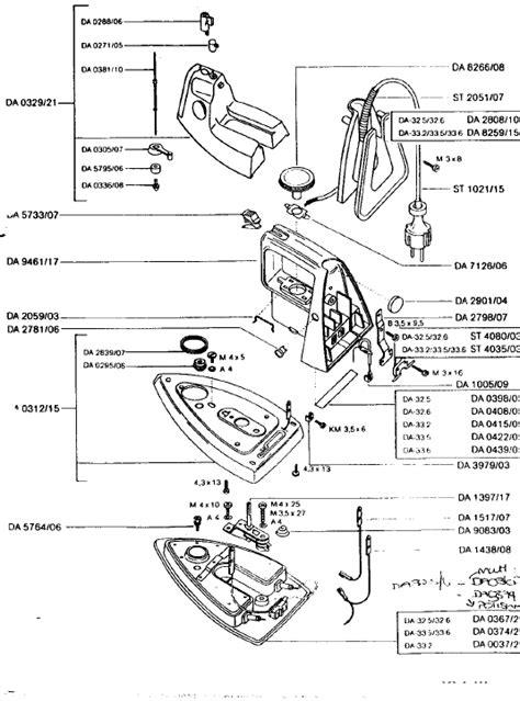 rowenta iron parts diagram rowenta da32 6 small appliance spares buyspares