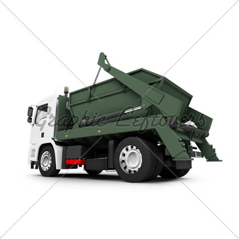 Car Dumpster by Dumpster Car Isolated Back View 02 183 Gl Stock Images