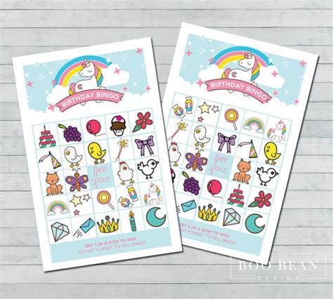 printable unicorn bingo unicorn bingo printable game unicorn games unicorn party