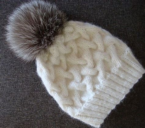knit cable hat pattern free knitting pattern for winter cable hat with pompom