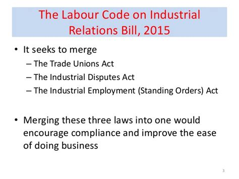 Industrial Relations And Labour Laws Mba Notes by Lecture 25 Labour Reforms Code On Industrial Relations