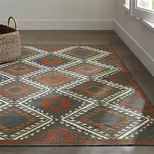 Crate And Barrel Kitchen Rugs Bessie Wool Dhurrie Rug Crate And Barrel