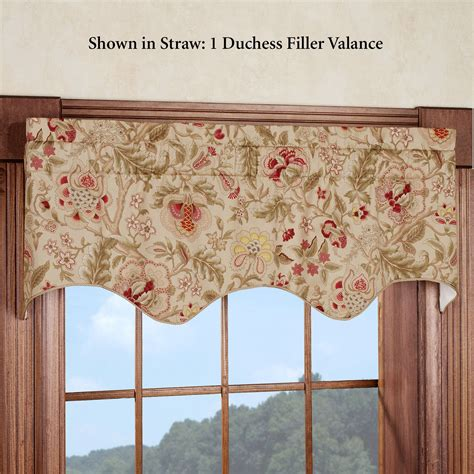Waverly Curtains And Drapes Regency Floral Duchess Filler Valance By Waverly