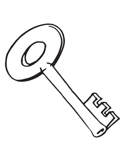 free coloring pages of key outline clip