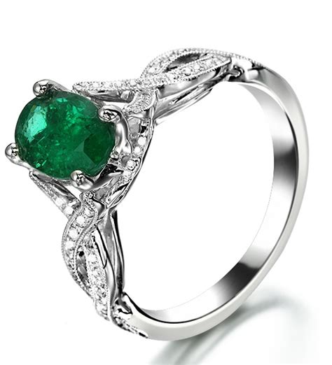 infinity design 2 carat emerald and curved