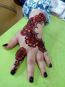 colorful henna colored henna designs mehandi design