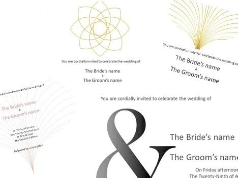 templates for powerpoint invitations wedding invitations