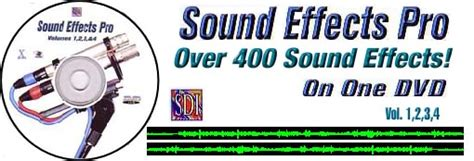 Dvd Audio Sounds Effect Production sdi sound effects vol 1 2 3 and 4 sound effect pro dvd at artsci org